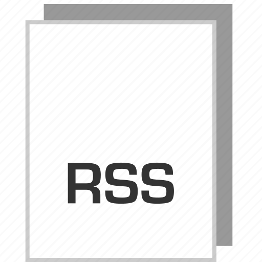 document, file, rss, type icon