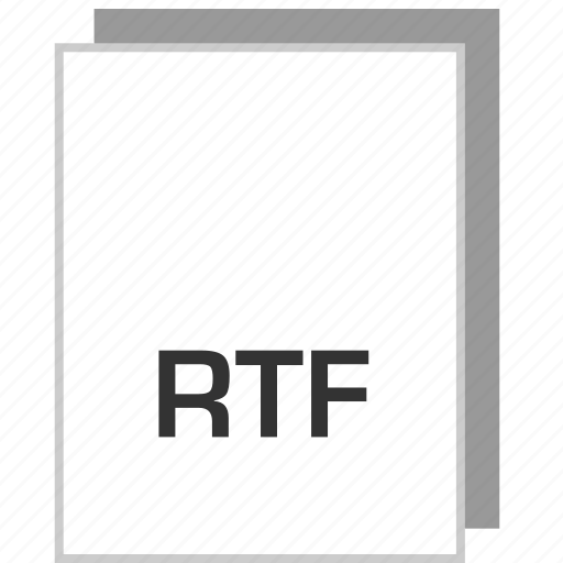 document, file, rtf, type icon