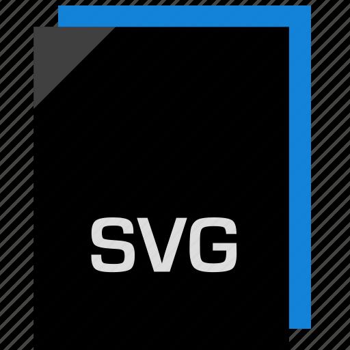 extension, file, name, svg icon icon
