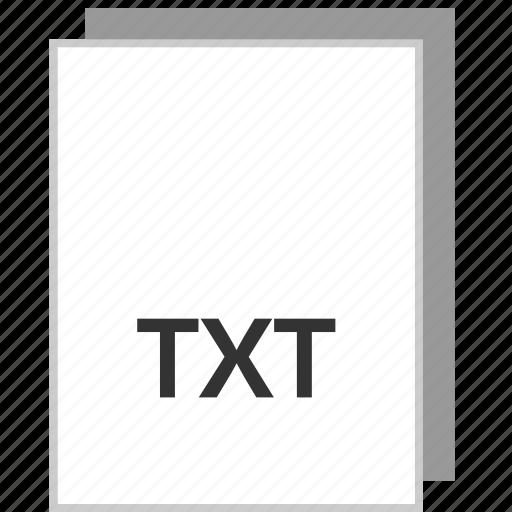 document, file, txt, type icon
