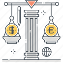 conversion, currency, currency exchange, dollar, finance, money, scale
