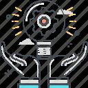 brainstorm, development, idea, creative, gear, lamp, production icon
