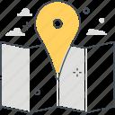 city, coordinates, direction, location, map, marker, navigation