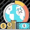 earth, economics, finance, globe, international, markets icon