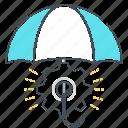 economy, gear, management, protection, risk, umbrella