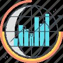 chart, earth, finance, global, management, pie, statistics