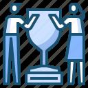 award, man, trophy, women