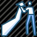 benefit, business, businessman, graph, profit icon