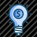 blub, idea, money icon