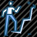 businessman, chart, graph, linegraph icon