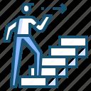 man, stair, step, walk icon