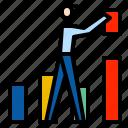 bar, businessman, chart