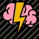 brain, brainstrom, head, strom icon