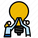 business, help, idea, process icon