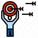 goal, marketing, target icon