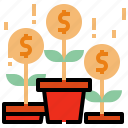 business, coin, growth icon