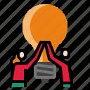 brainstrom, business, idea icon