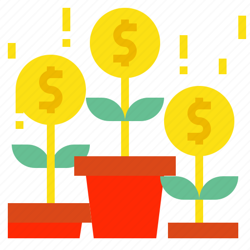 coin, growth icon