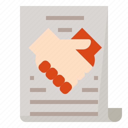 contract, hand, shake icon
