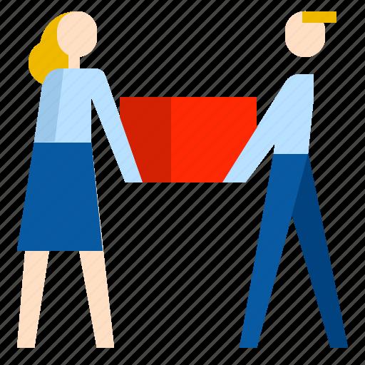 carry, partnership, teamwork icon