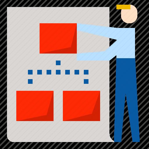 business, planning, tactics icon
