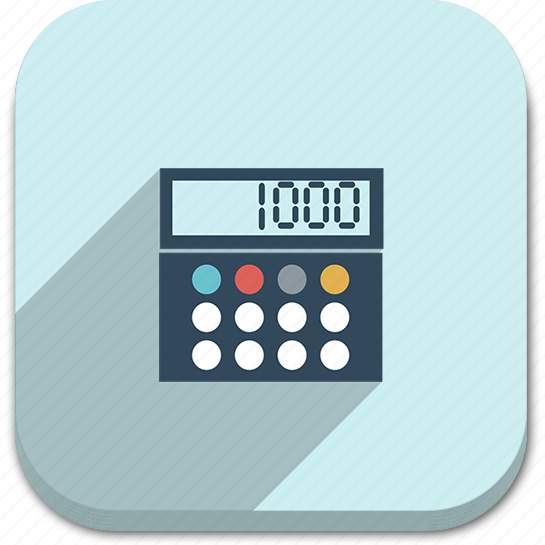 blue, business, buttons, calculator, colorful, graphic, graphics, modern, multi colored, number, popout, round, shadow, technology icon