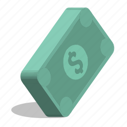 business, dollars, money, stack, value icon