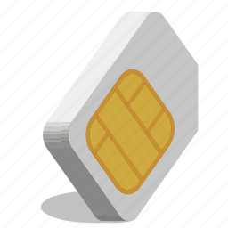 communications, simcard icon