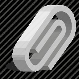 attachment, clip, linking, wire icon