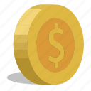 coins, dollar icon