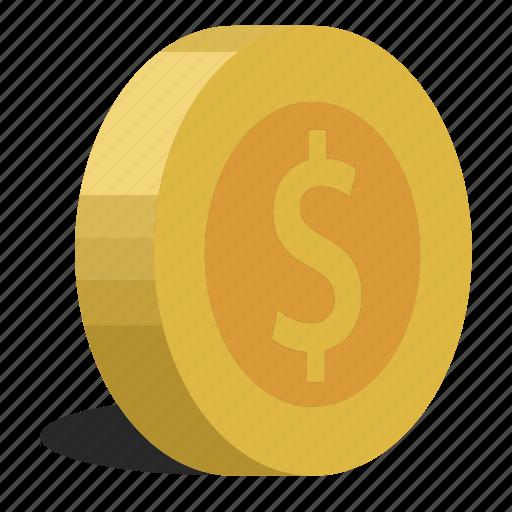 coins, dollar icon
