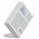 newspaper, paper icon