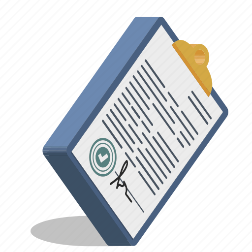 contract, document, paper, signature icon