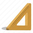 ruler, scale, triangle