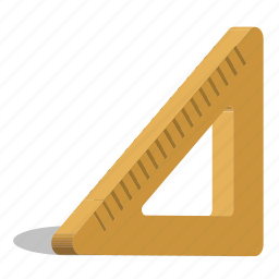 ruler, scale, triangle icon