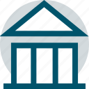bank, banking, building, money icon
