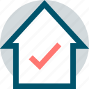 business, check, house, mark, web icon