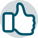 business, good, thumbs, up, web icon