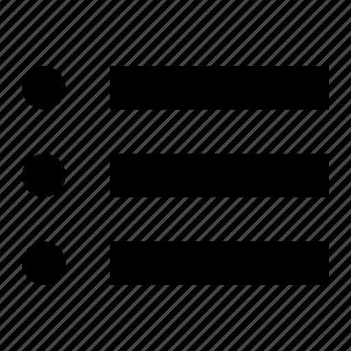 checklist, enumeration, list, menu, todo icon