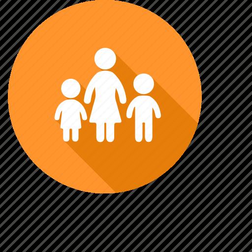 babysitter, children, daycare, family, kids, mother, nursery icon