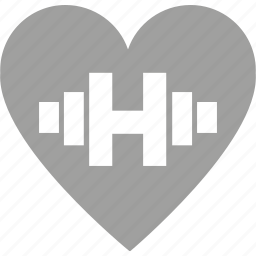 cardio, dumbbell, exercise, fitness, health, heart, push-ups icon