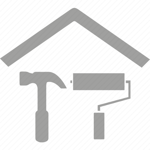 home, house, improvements, painting, repair icon