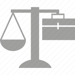 business, justice, scales, solicitors icon
