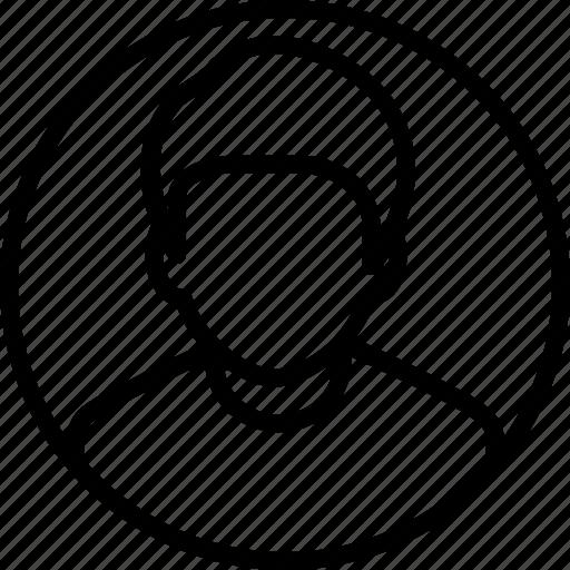 account, avatar, male, person, profile, student, user icon