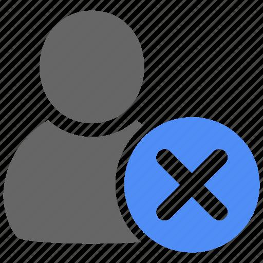 account, avatar, delete, people, profile, remove, user icon