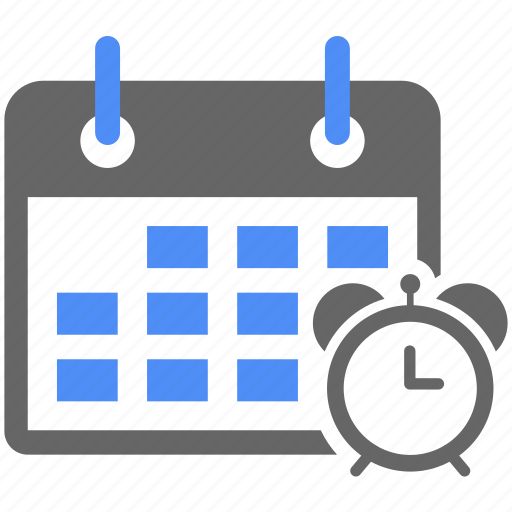 calendar, clock, effciency, productivity, schedule, time management, working scheduk icon
