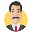 businessman, moustache, avatar