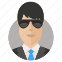 avatar, businessman, shades icon
