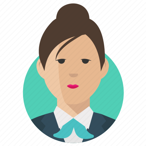 Businesswoman, woman, avatar icon