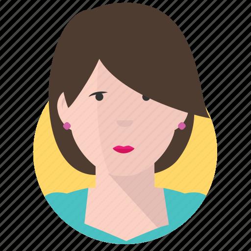 avatar, businesswoman, elegant icon